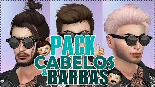 🔴 PACK CABELO & BARBA MASCULINO - The Sims 4