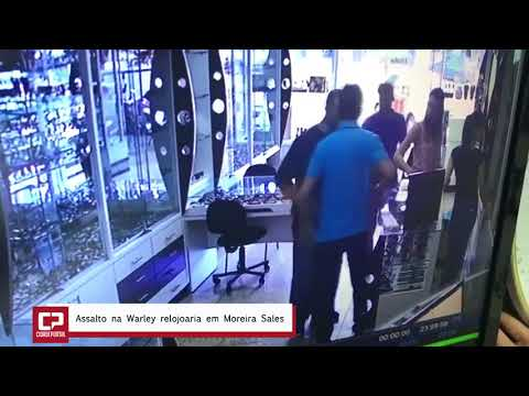 Câmeras de segurança registram assalto em relojoaria de Moreira Sales - Cidade Portal