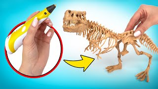 How To Make Cool T-Rex Skeleton With 3D Pen🦖