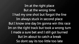 Faber Drive ft. Pierre Bouvier Too Little Too late Lyrics