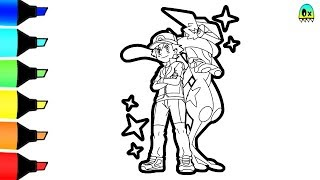 Ash and Greyninja Pokemon Coloring Pages I Fun Colouring for kids