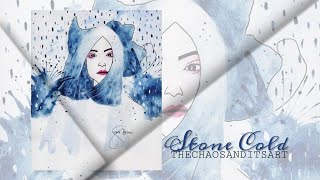 """""""Stone Cold"""" - The Chaos and its Art Series (Original watercolor)"""