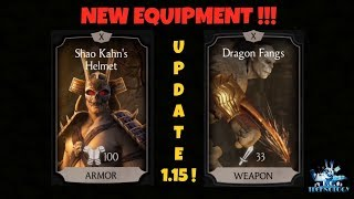 MKX MOBILE: NEW SHAO KAHN'S & GORO EQUIPMENT ! UPDATE 1.15 !