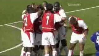 Patrick Vieira vs Leicester (Last Invincibles season game)