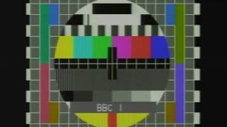BBC 1 Test Card Classic Vintage UK Tv Commerical