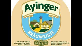 Ayinger Bräu-Weisse Video Beer Review | San Diego Beer Vlog EP 565