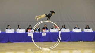 World Championships in Gymwheel 2016 Qualification Miho Tsukioka straight line 25th Place