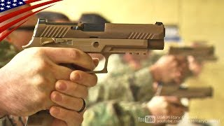 US Military's New 9mm Handgun M17 & M18 (SIG SAUER P320)