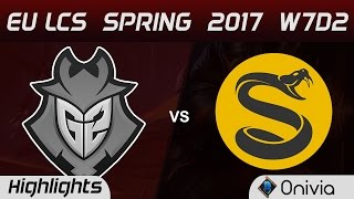 G2 vs SPY Highlights Game 1 EU LCS Spring 2017 W7D2 G2 Esports vs Splyce