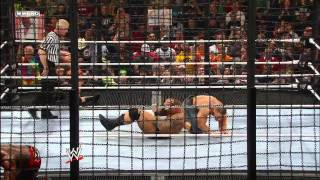 John Cena introduces Ted DiBiase to the steel apron: Elimination Chamber 2010