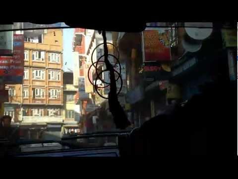 TAXI W KATHMANDU ,NEPAL Z AMBASADY INDYJSKIEJ NA THAMEL