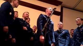 USAFA In the Stairwell a capella group singing Wagon Wheel