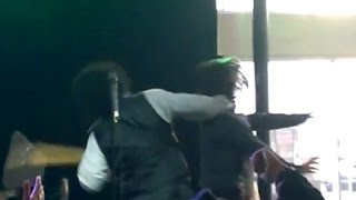 Raw: Rapper Afroman Charged With Hitting Fan