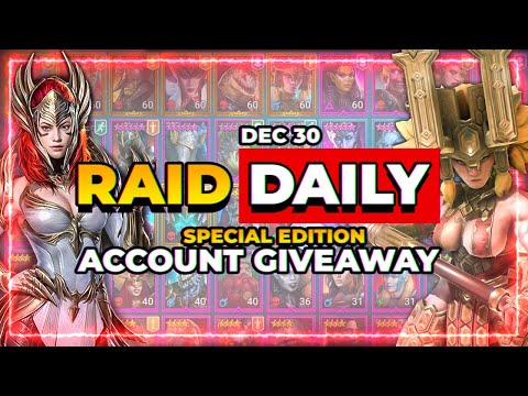 RAID Daily | Dec 30 | ACCOUNT GIVEAWAY! & NEWS