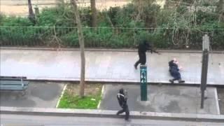 Video amateur muestra terroristas en Paris asesinando a un policía