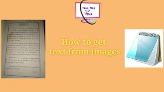 How to get text from images | Tamil Tech Pedia