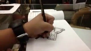 Deadpool drawing time lapse video fail turned out great