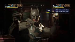 BEATING A High level BATMAN's A$$ Injustice 2 Online Beta
