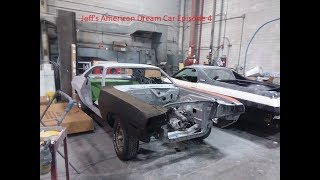 Jeff's American Dream Car.  Episode 4.  1973 to 1970 Challenger (Back from blasting)