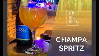 Drink com APEROL e ESPUMANTE - CHAMPA SPRITZ