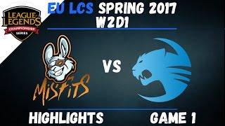 MSF vs ROC Highlights Game 1 EU LCS 2017 Spring W2D1 Misfits vs Roccat