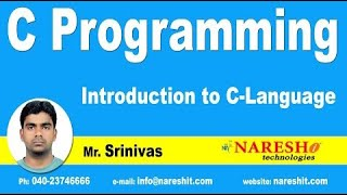 Introduction to C Language - Part 1 , C Language Tutorial
