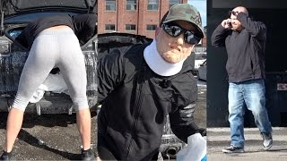 Girlfriends Yoga Pants On Dirty Grandpa Prank Shocks The Public!!