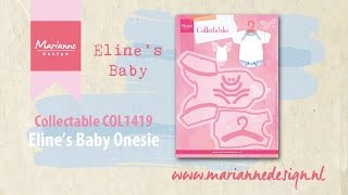 Collectable COL1419 Baby Onesie | Eline's Baby by Marianne Design | Cardmaking Die Cutting