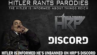 Hitler is informed he's unbanned on HRP's Discord server