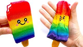 DIY RAINBOW POPSICLE SQUISHY | Easy DIY Toys for Kids