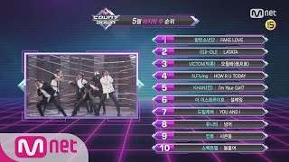 What are the TOP10 Songs in 5th week of May? M COUNTDOWN 180531 EP.572