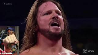 WWE Smackdown 10/9/18 Shelton Benjamin vs AJ Styles