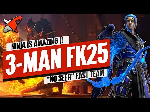 3-MAN NINJA FIRE KNIGHT 25 TEAM!! | Fast & NO Seer!! | RAID: Shadow Legends