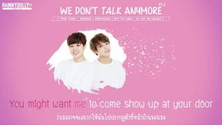 [THAISUB] We Don't Talk Anymore - Jungkook & Jimin (Cover)