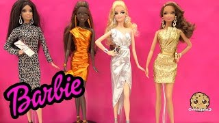 Barbie Collectors City Shine Gold Dress Doll Mattel Black Label Unboxing Toy Review Cookieswirlc