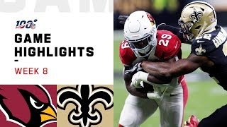Cardinals vs. Saints Week 8 Highlights   NFL 2019