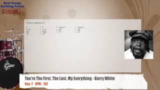 You're The First The Last My Everything - Barry White Drums Backing Track with chords and lyrics