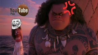 Youtube Poop Moana Drowing Under Lava!