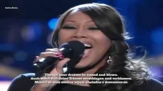 Yolanda Adams live You'll never walk alone- English/Deutsch/Português lyrics