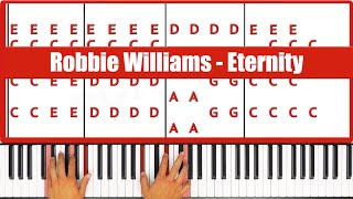 ♫ EASY - How To Play Eternity Robbie Williams Piano Tutorial Lesson - PGN Piano