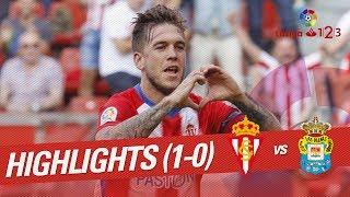 Resumen de Real Sporting vs UD Las Palmas (1-0)
