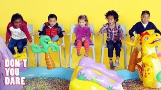 We Challenged Little Kids Not to Move! | Don't You Dare | HiHo Kids