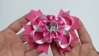 flores doble listn facilitas para centro lazos diy flores pequeas de cintas