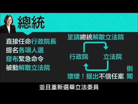 【八上公民】【觀念】總統與行政院 - YouTube