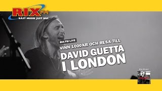 Upplev David Guetta live i London