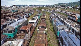 Le cimetière de locomotives à Sotteville-lès-Rouen