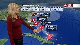 Hurricane Matthew Latest Track