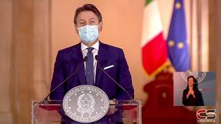 Il presidente Conte presenta il nuovo DPCM del 18 ottobre 2020 - www.canalesicilia.it