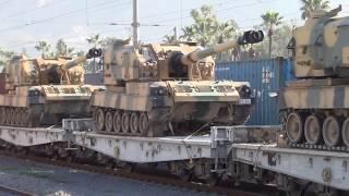 Turkish military vehicles deployed on Syrian border