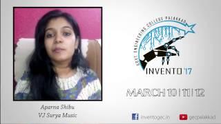 INVENTO 17 | Greetings by Aparna Shibu | Surya Music